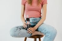 Kaboompics - Young woman with Pepsi Cola bottle