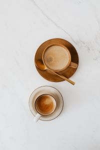 Kaboompics - Coffee on Marble Background