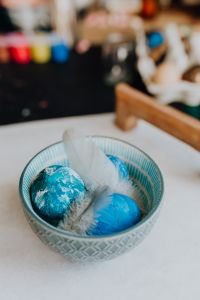 Kaboompics - Blue Easter Eggs