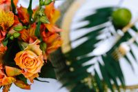 Kaboompics - Bouquet of orange roses with the orange alstroemeria