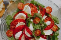 Kaboompics - Italian caprese salad with mozzarella and tomatoes