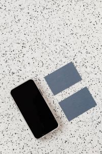 Kaboompics - Empty business card on terrazzo