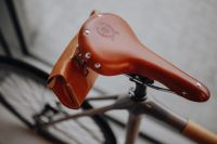 Kaboompics - Brown leather saddle of bicycle