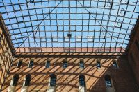 Kaboompics - Old brick castle with glass roof