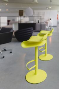 Kaboompics - Tall yellow bar stool - Modern designer Bar chair