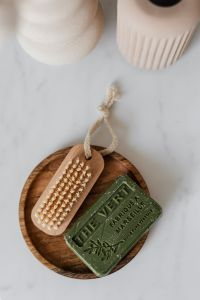 Kaboompics - Olive soap - wooden nail brush