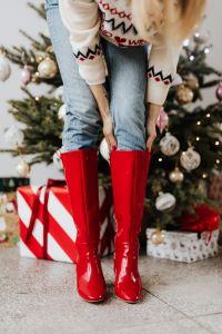 Red Christmas Boots